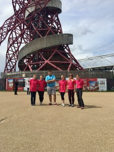 Moore Thompson's team of daredevils have taken on The Orbit in London and abseiled down it to raise money for charity.